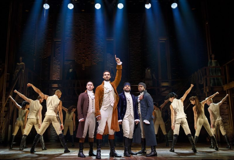 Young Alexander Hamilton, along with new found friends Aaron Burr, John Laurens, the Marquis de Lafayette and Hercules Mulligan will not throw away their shot at the impending revolution.