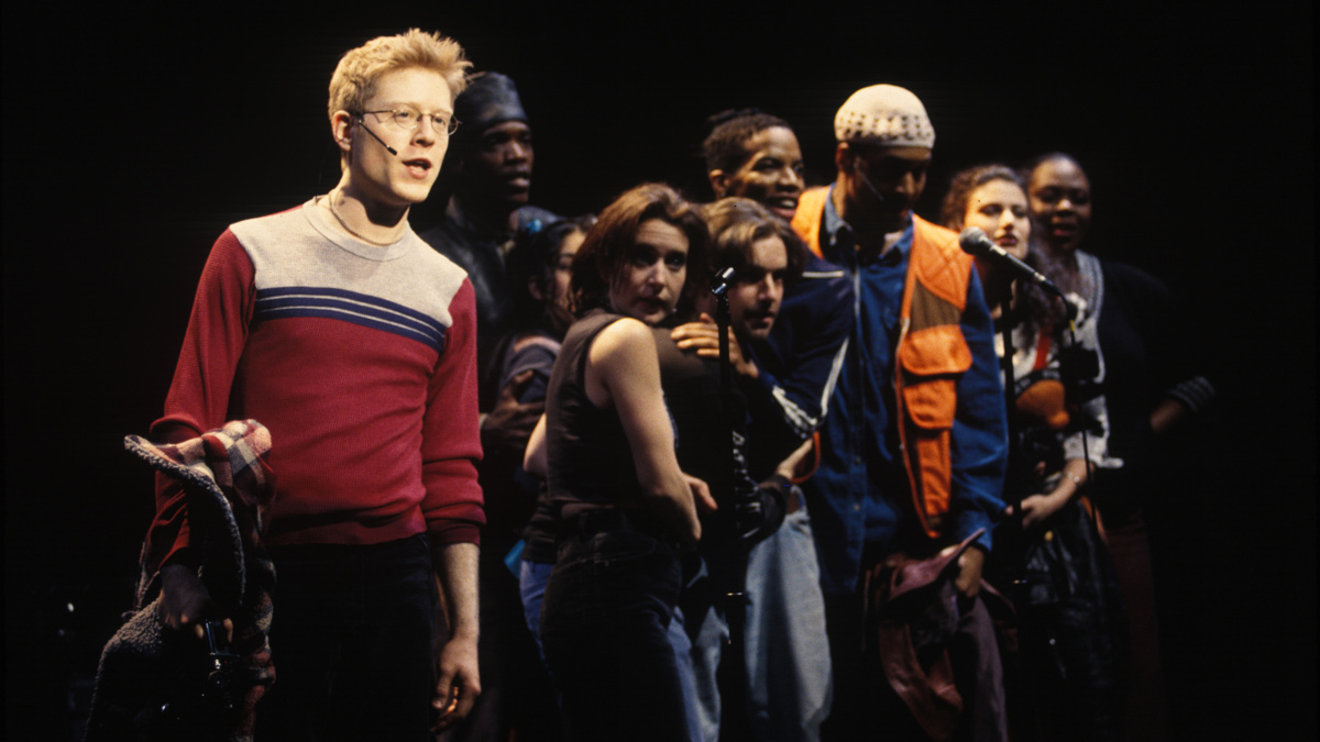 PS - Rent - Anthony Rapp - Jesse L. Martin - Idina Menzel - 1996 - Joan Marcus
