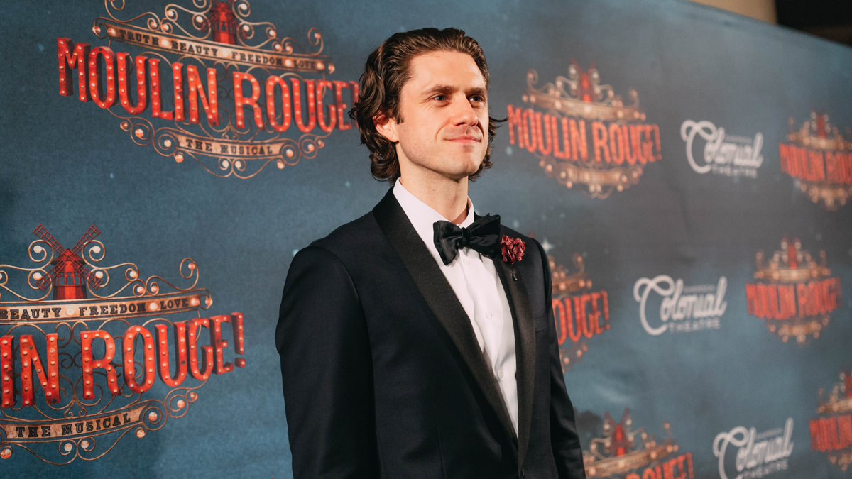 Moulin Rouge Boston Opening - Aaron Tveit - 7/18 - EMK